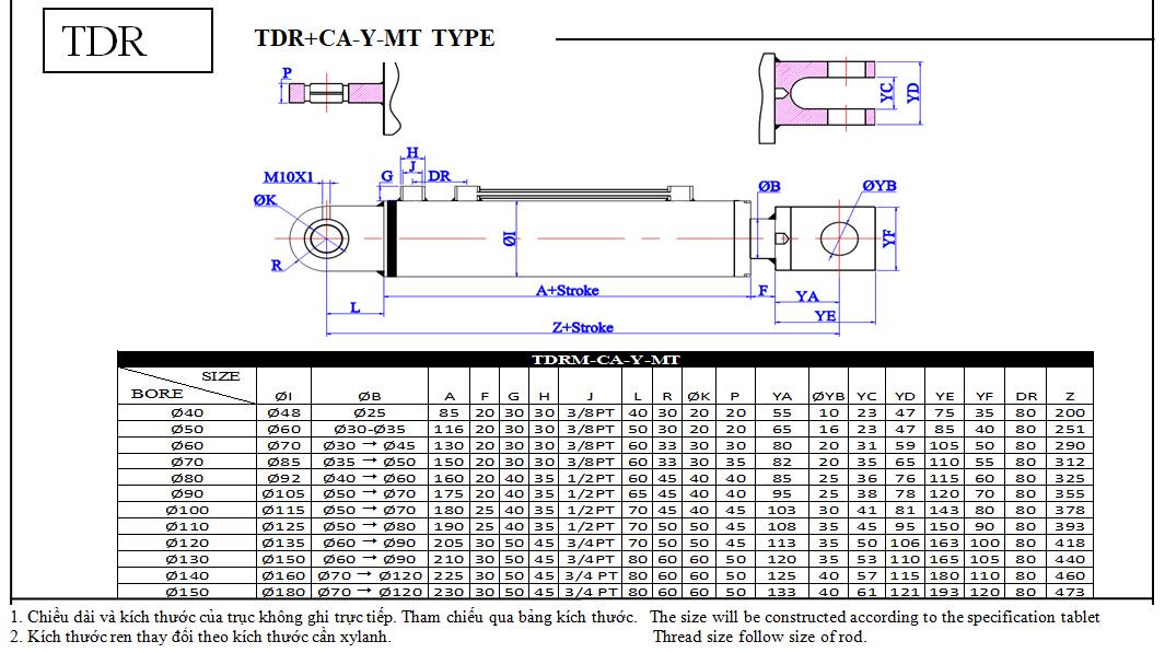 TDR + CA +Y + MT TYPE